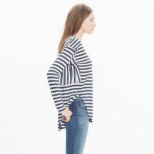 Madewell Anthem blue and white striped knit top